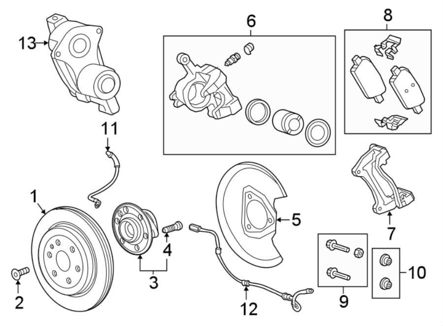 Buick Enclave Wheel Bearing and Hub Assembly (Rear