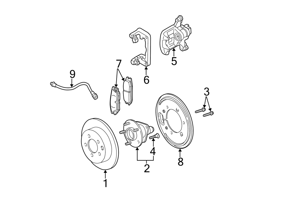 Buick Rendezvous Wheel Bearing and Hub Assembly (Front