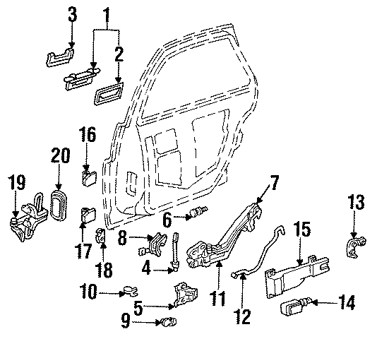 Buick Regal Bellcrank. Included with: Module assembly. 2