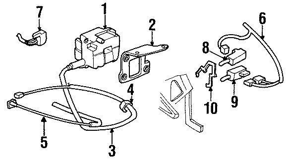 Cadillac Deville Brake switch. Pedal switch. Release