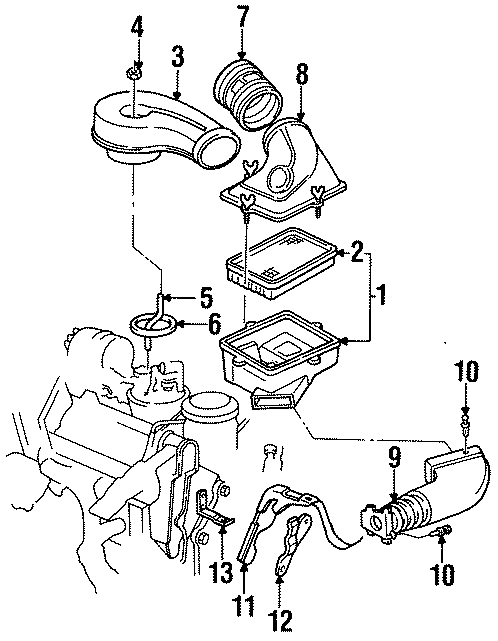 Cadillac Deville Connector Kit. Duct, A/CL Outlet. Inlet
