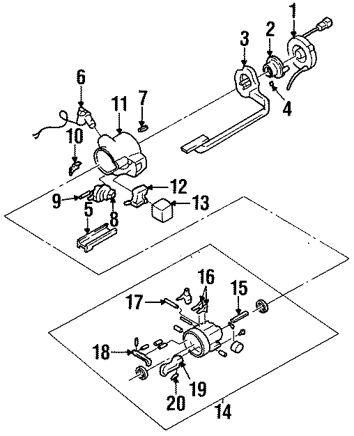 Cadillac Deville Rack And Pinion Steering Pinion Shaft