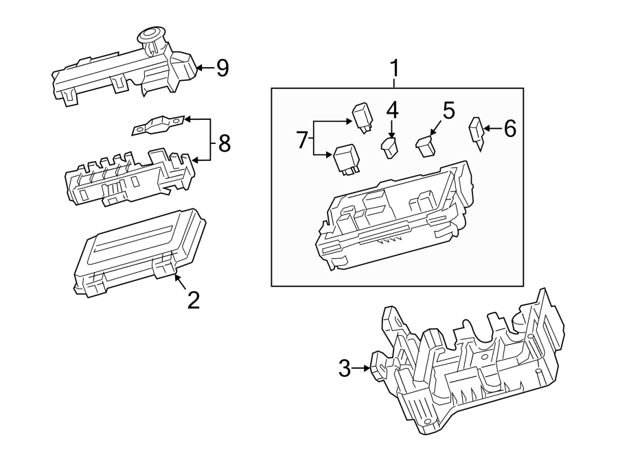 Cadillac ATS Fuse box cover. Coupe, ENGINE COMPARTMENT