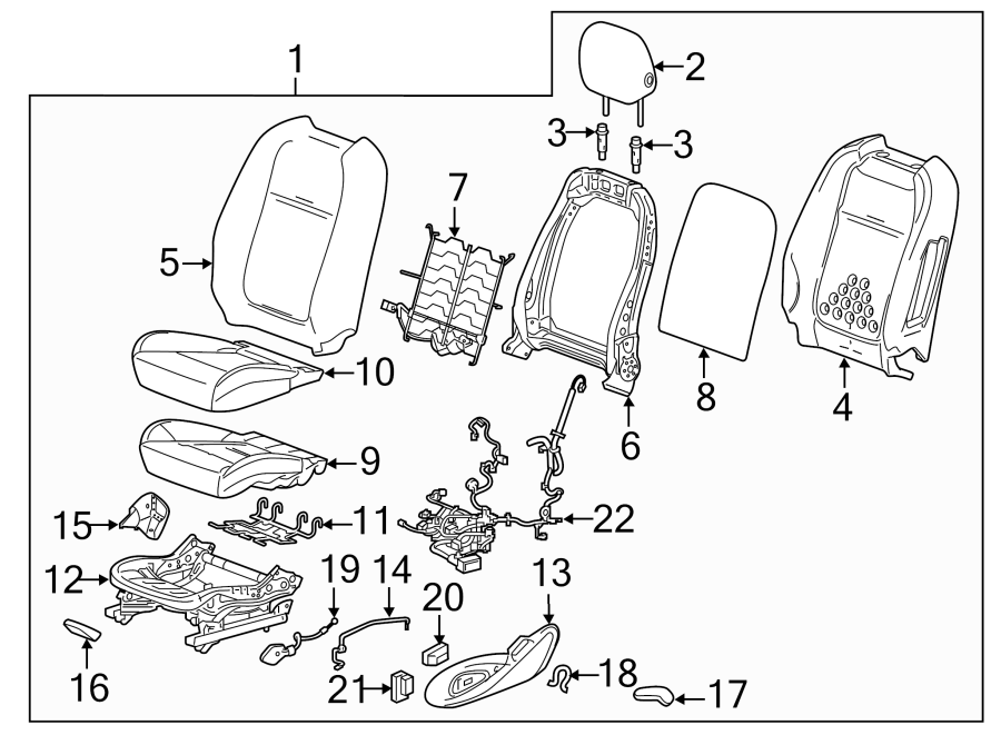 Chevrolet Caprice Power Seat Wiring Harness. 2014-17