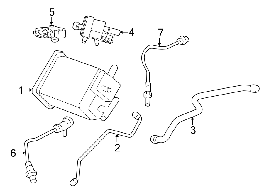 Chevrolet Impala Evaporative Emissions System Lines. 3.6