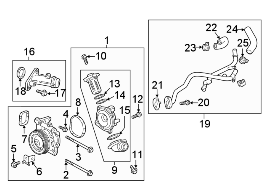 Chevrolet Cruze Engine Coolant Bypass Hose. Cooling