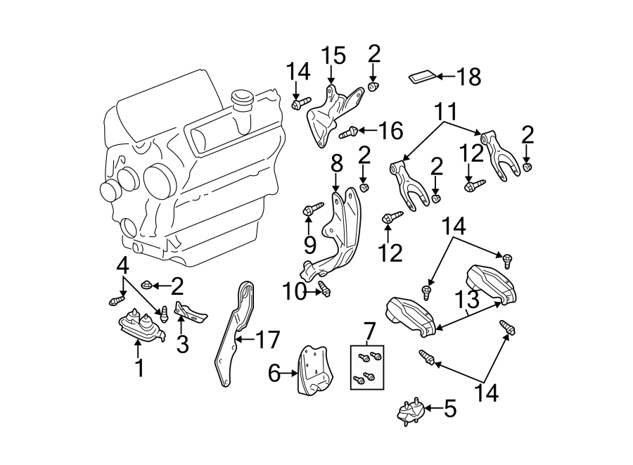Chevrolet Monte Carlo Engine Mount (Front, Lower