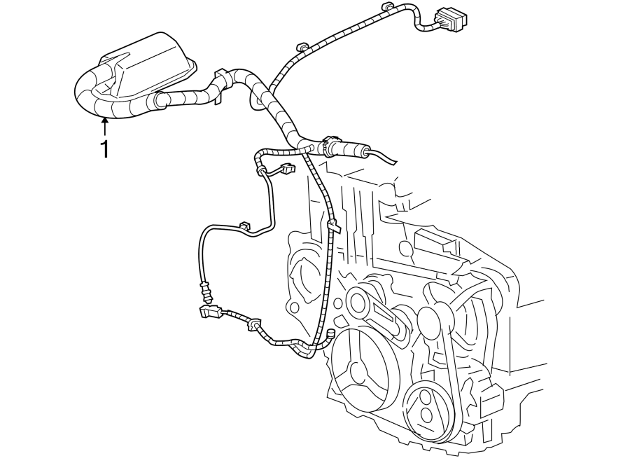Chevrolet Cavalier Engine Wiring Harness. 2.4 liter