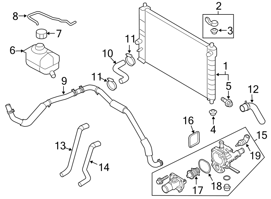 Chevrolet Aveo Engine Coolant Thermostat Kit. COOLING