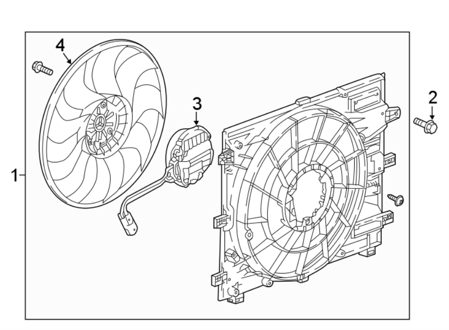 GMC Terrain Engine Cooling Fan Assembly. Radiator, Front