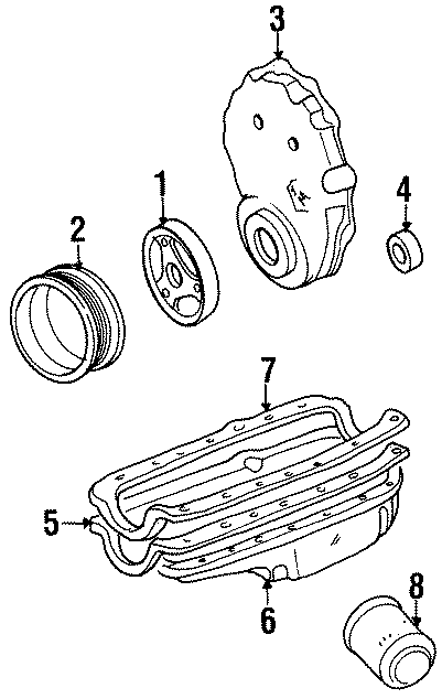 Chevrolet K1500 Suburban Engine Timing Cover (Front