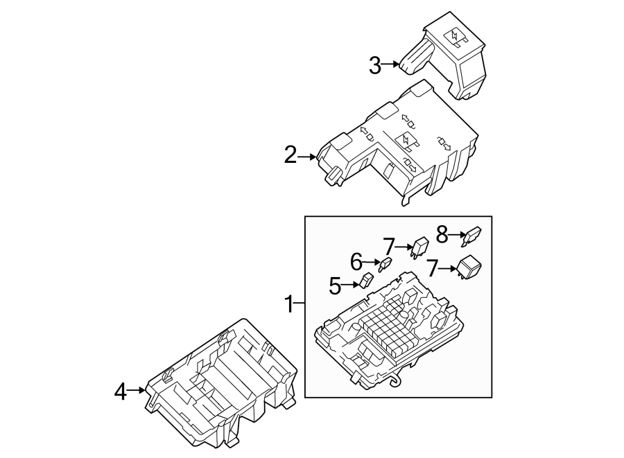GMC Savana 1500 Junction Block Cover (Lower). JUNCTION