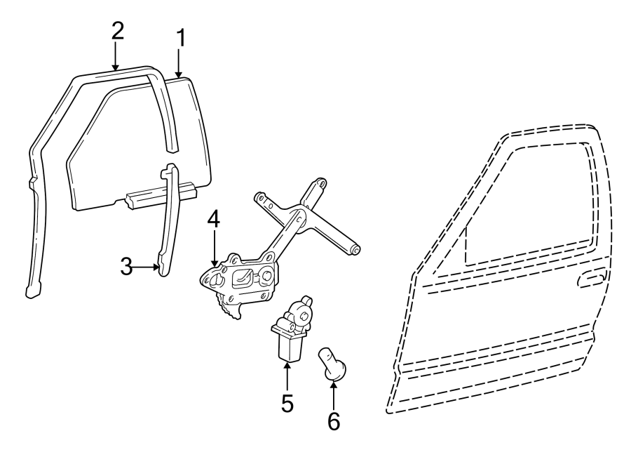 Chevrolet Blazer Channel. Guide. Rear lower. Division