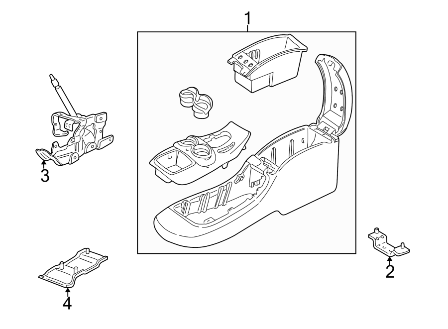 Oldsmobile Bravada Center Console (Front, Lower