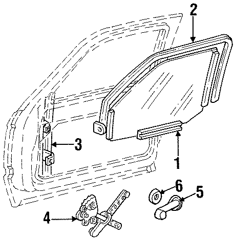 Chevrolet C1500 Window Channel (Front, Rear). From 9/87