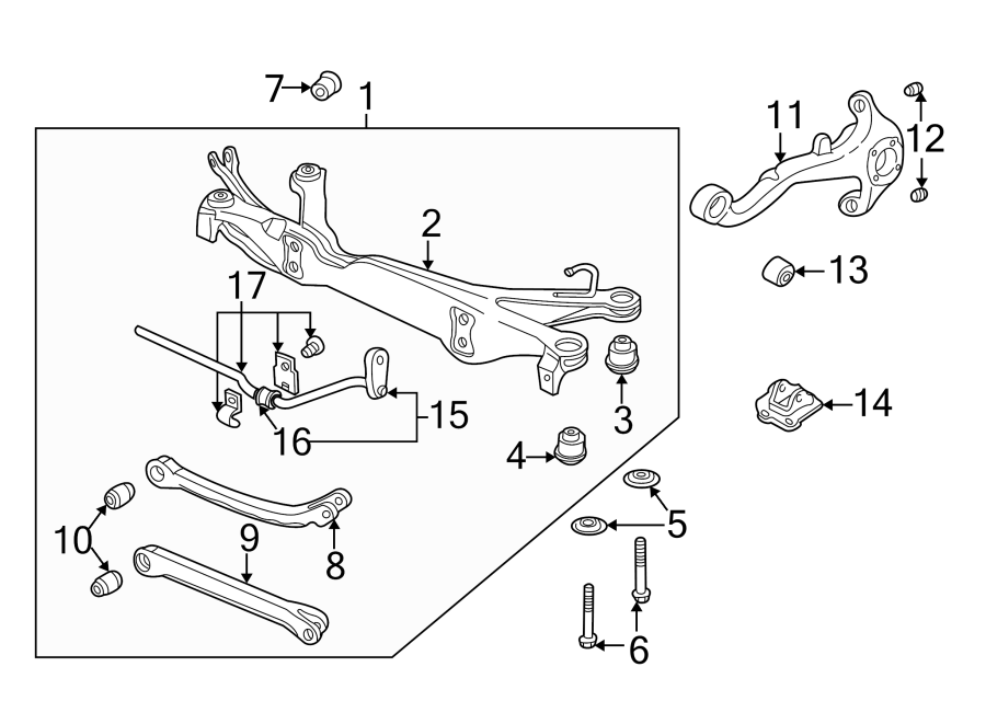 Saturn L300 Crossmember Assembly. Suspension Assembly