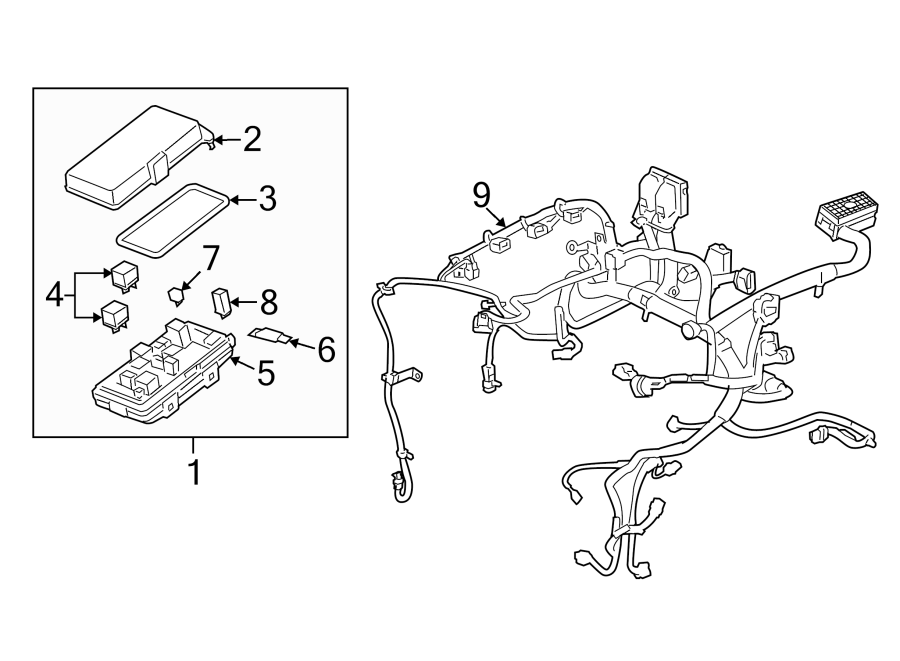 Saturn Aura Engine Wiring Harness. ENGINE COMPARTMENT