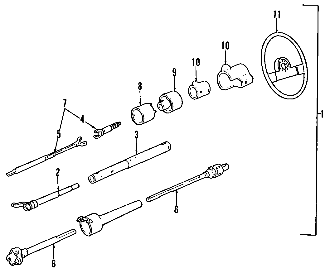 Chevrolet S10 Shift Tube S Series Tilt Steering Column