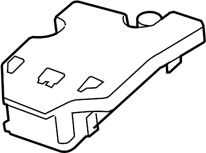 Buick Lucerne Fuse Box Cover (Upper). ENGINE COMPARTMENT