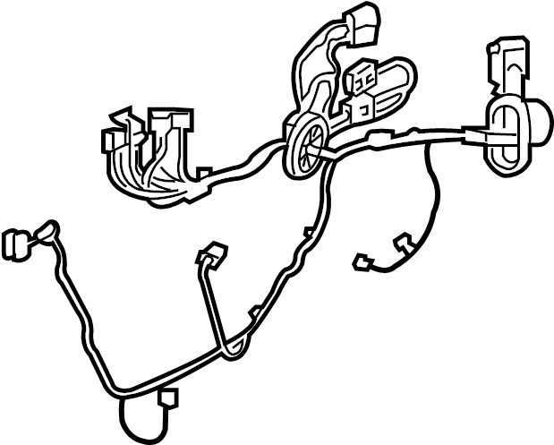 Buick Enclave Door Wiring Harness. W/o memory pkg, w/o