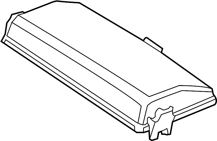 Buick LaCrosse Fuse and Relay Center Cover. ENGINE