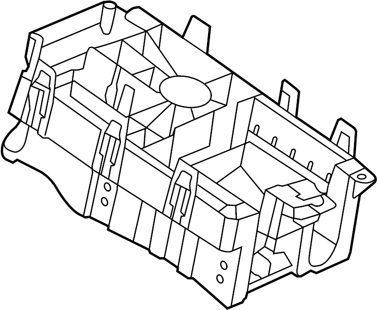 Chevrolet Malibu Fuse and Relay Center Base. Compartment