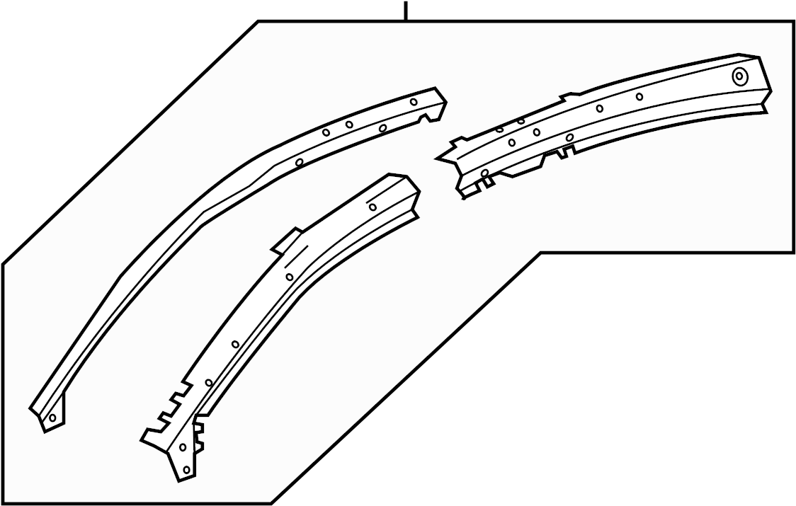 Buick LaCrosse Body A-Pillar Reinforcement (Right, Front