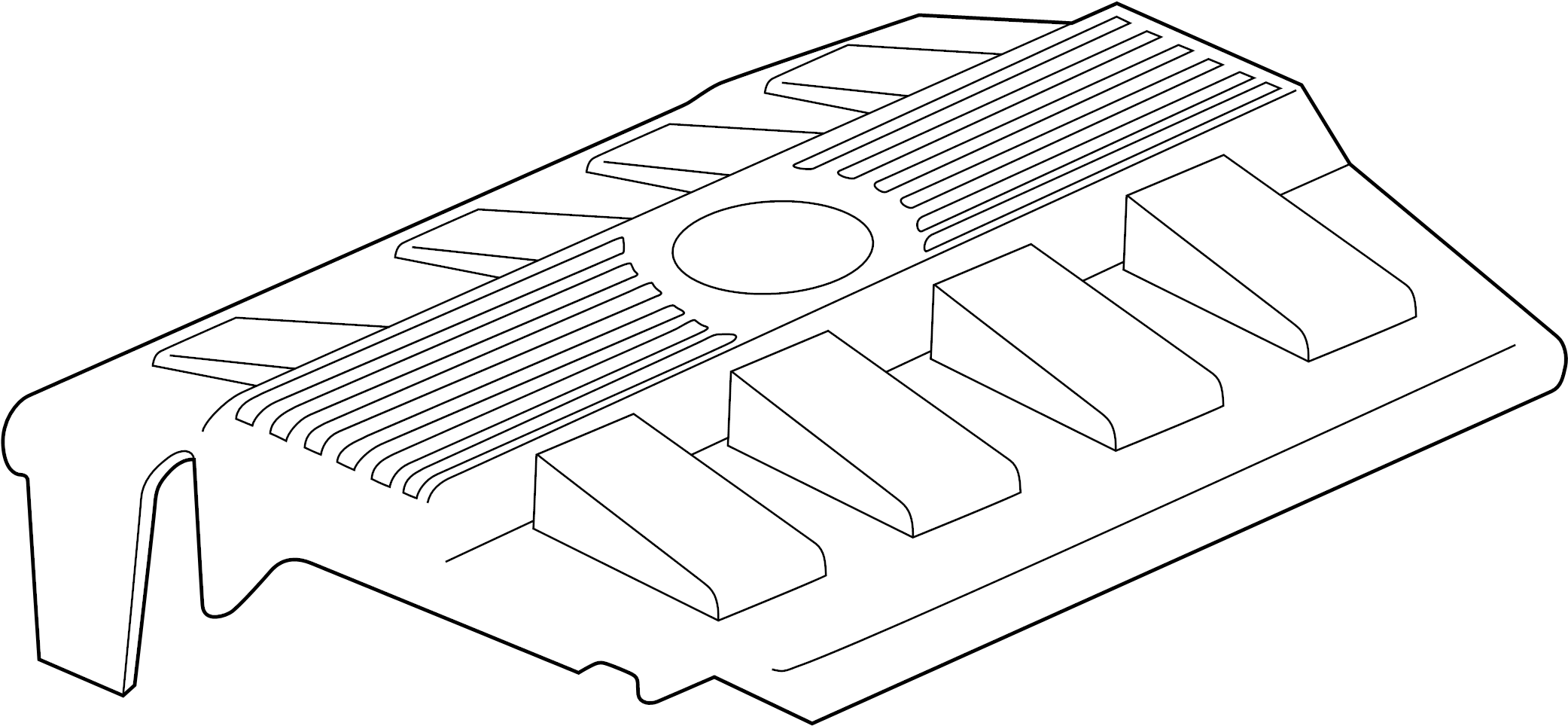 Cadillac Deville Engine Cover (Upper). Cover. SHIELD