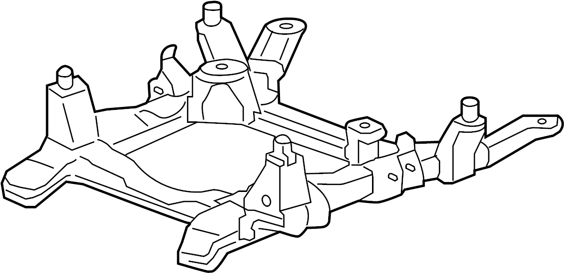 Cadillac STS Engine Cradle (Front). AWD, Steering