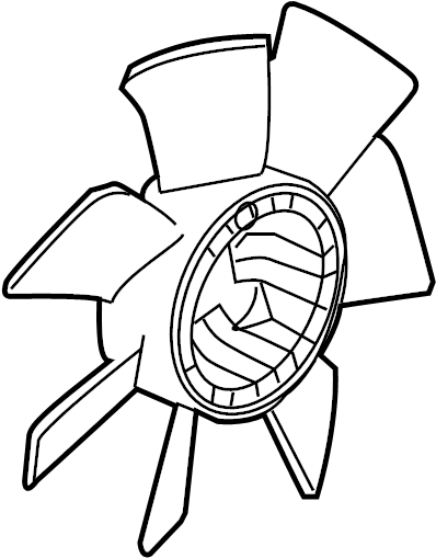 Cadillac CTS Engine Cooling Fan Blade. Engine Cooling Fan