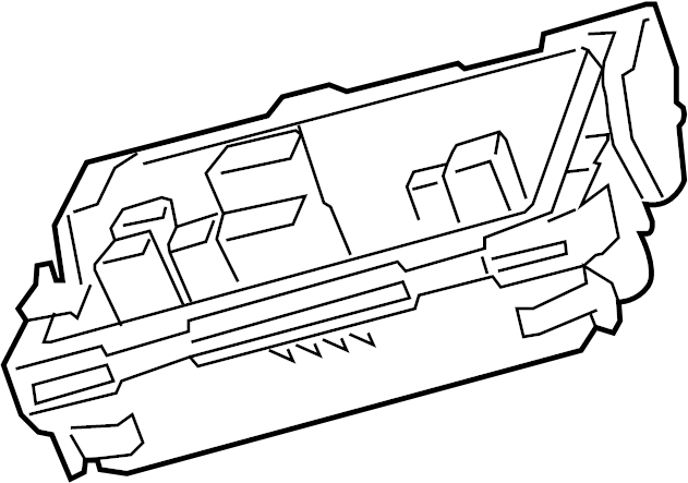 Cadillac CTS Fuse and Relay Center. ENGINE, COMPARTMENT