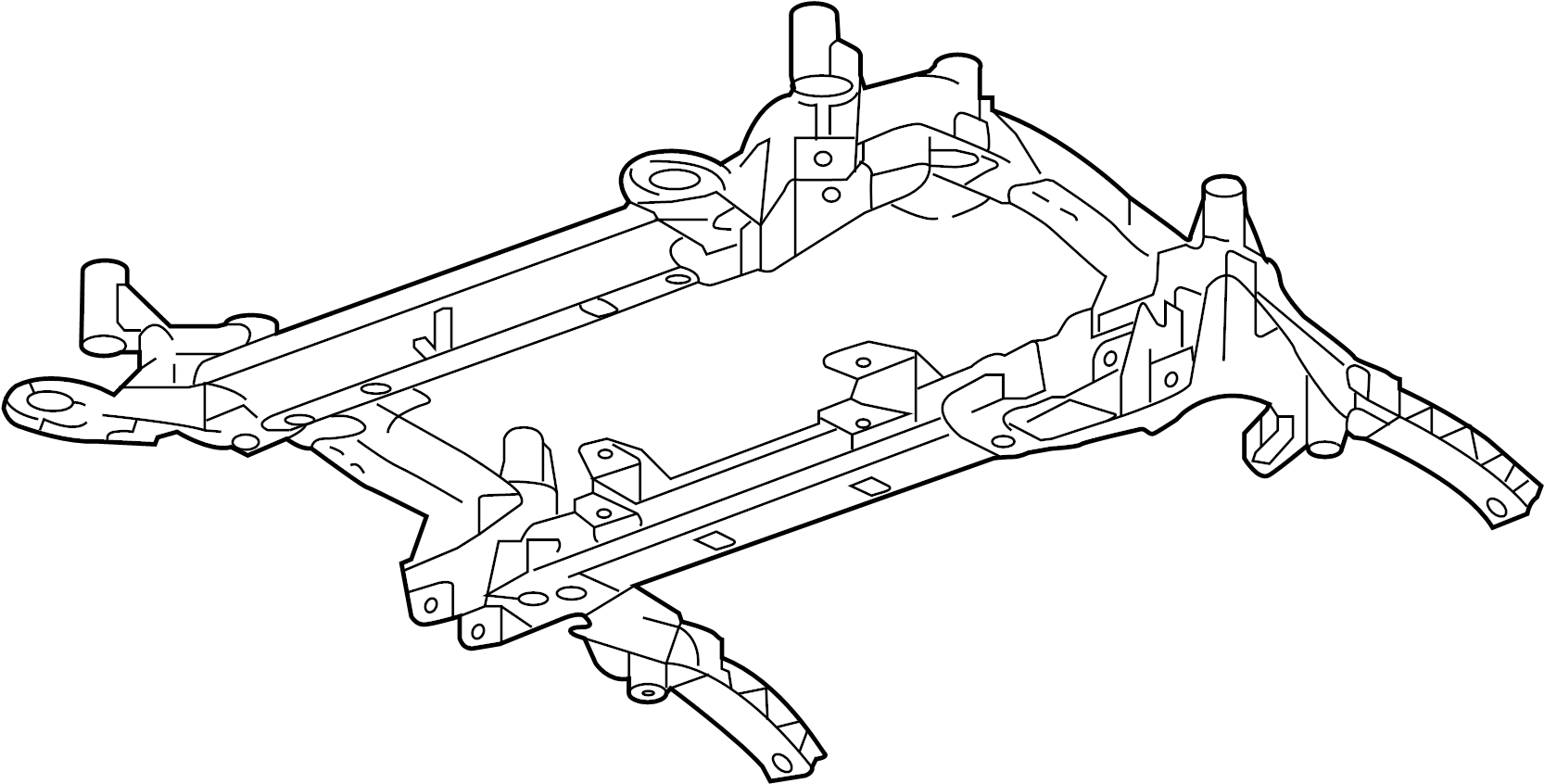 Cadillac CTS Suspension Subframe Crossmember (Front). CTS
