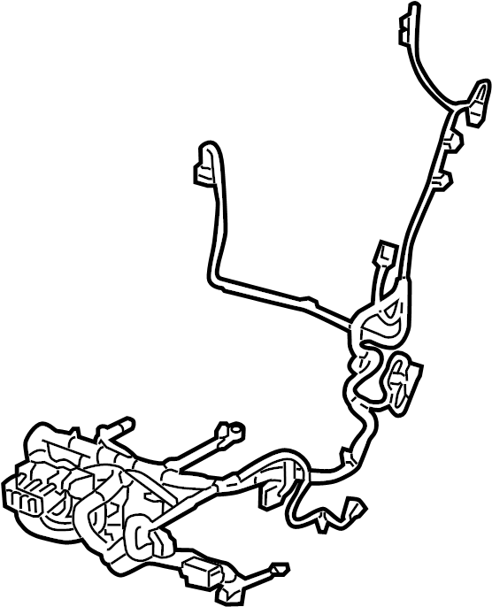 Cadillac SRX Power Seat Wiring Harness (Front). SEAT