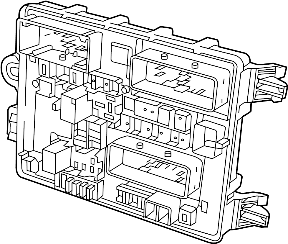 Chevrolet Caprice Fuse and Relay Center. BODY COMPARTMENT