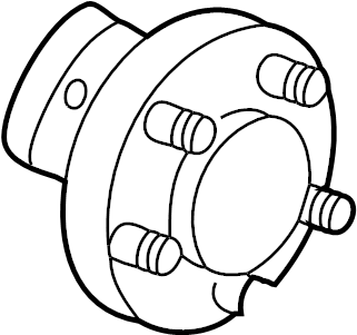Chevrolet Corvette Wheel Bearing and Hub Assembly (Front