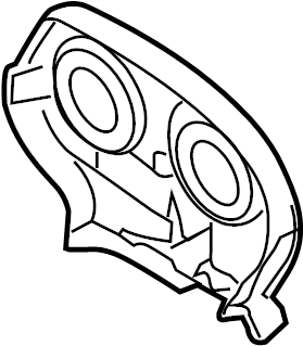 Chevrolet Aveo Engine Timing Cover (Front, Rear, Upper). 1