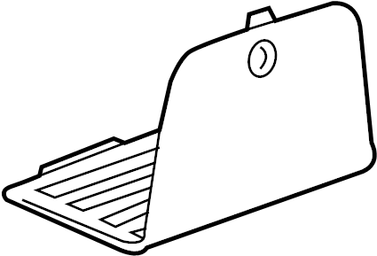 Chevrolet Malibu Fuse box cover. Included with: Lower