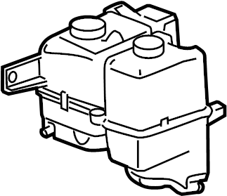 Chevrolet Colorado Engine Coolant Reservoir. Tank, Cooling