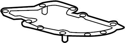GMC Canyon Engine Oil Pan Gasket (Lower). Engine Oil Pan