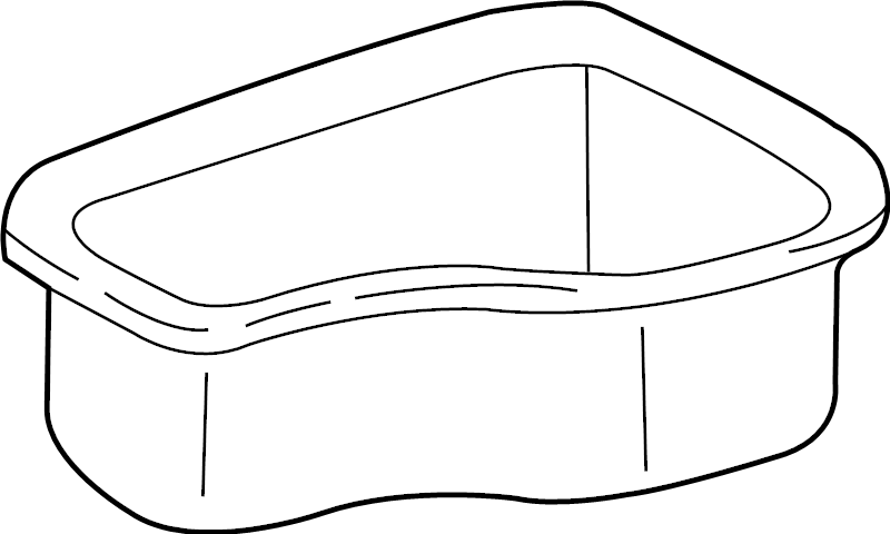 GMC Sonoma Console Mat (Upper). 1998-03 MANUAL