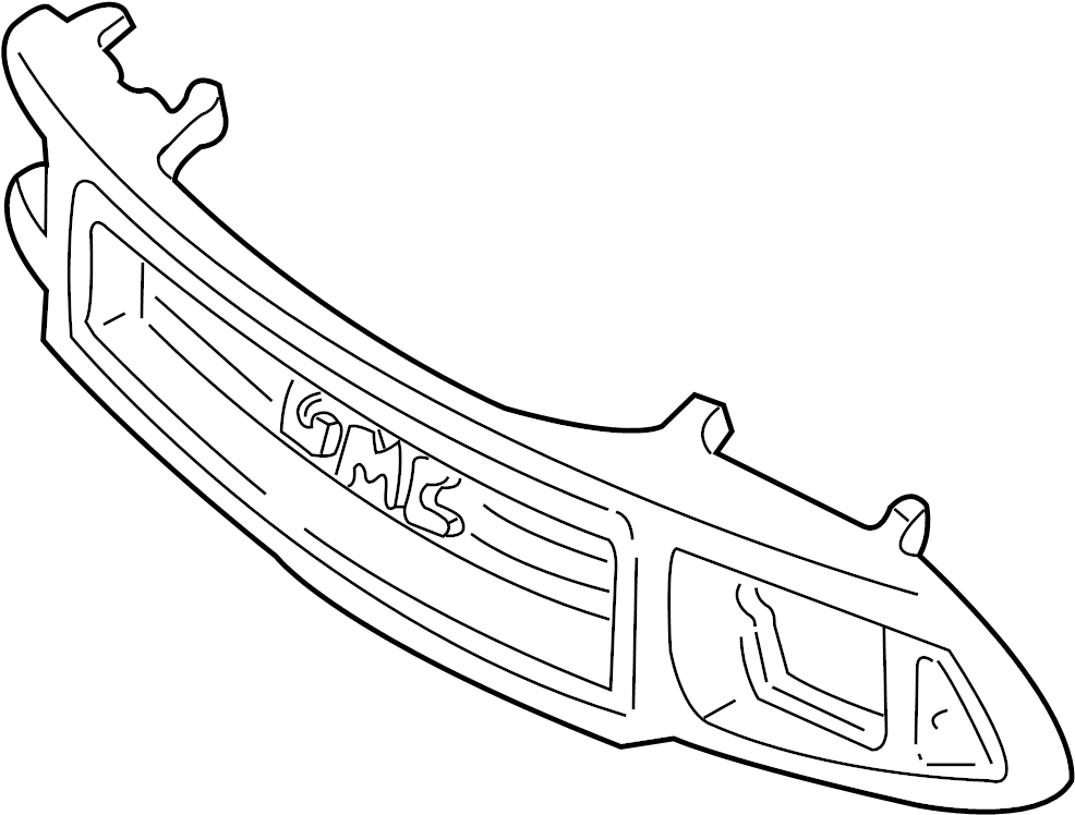 GMC Sonoma Grille (Upper, Lower). 1994-97, painted, GMC