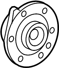 Buick Enclave Wheel Bearing and Hub Assembly (Front