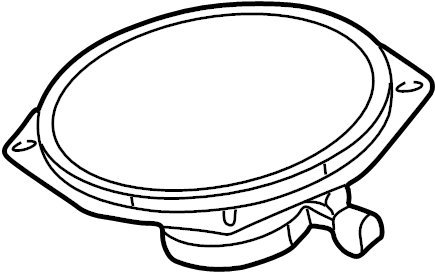 Saturn Ion Speaker (Rear, Upper, Lower). COUPE, extended