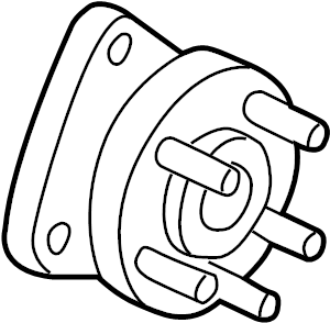 Chevrolet Uplander Wheel Bearing and Hub Assembly (Front