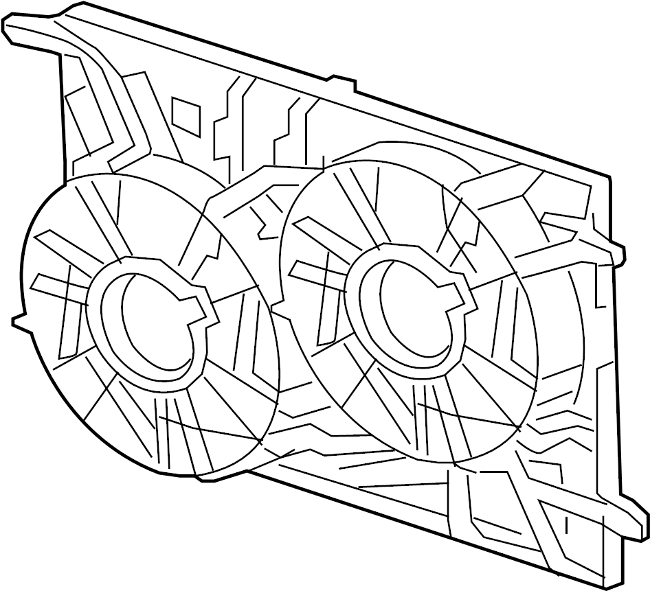 Buick Enclave Engine Cooling Fan Assembly. Radiator