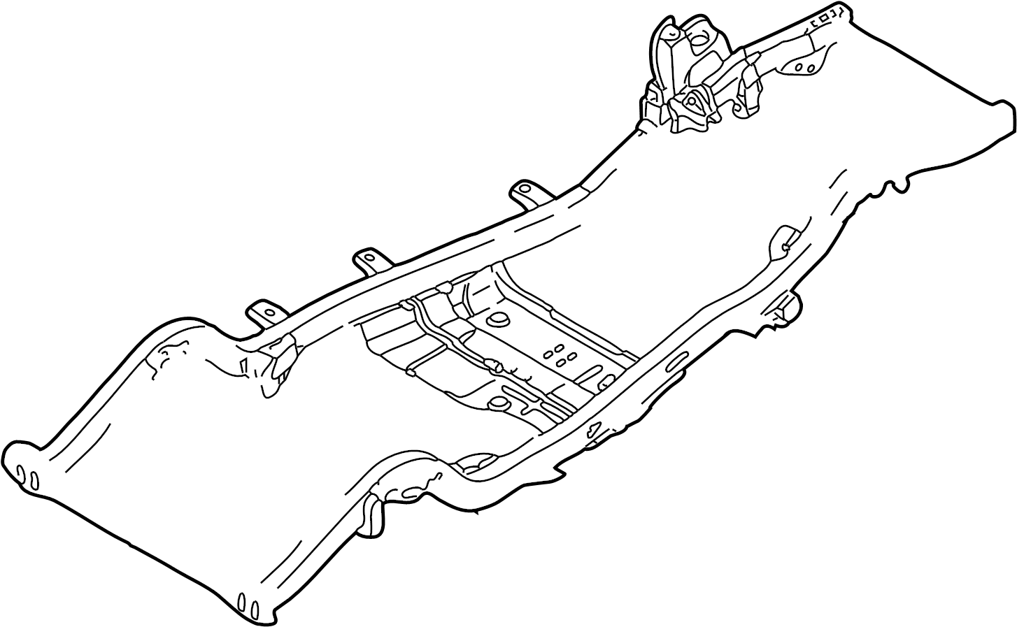 Chevrolet Blazer Frame Crossmember. Center. Center, 4WD