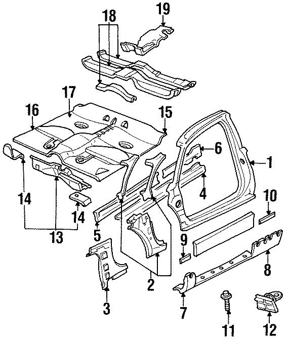 1998 Chevrolet Monte Carlo Floor pan insulator. Heat