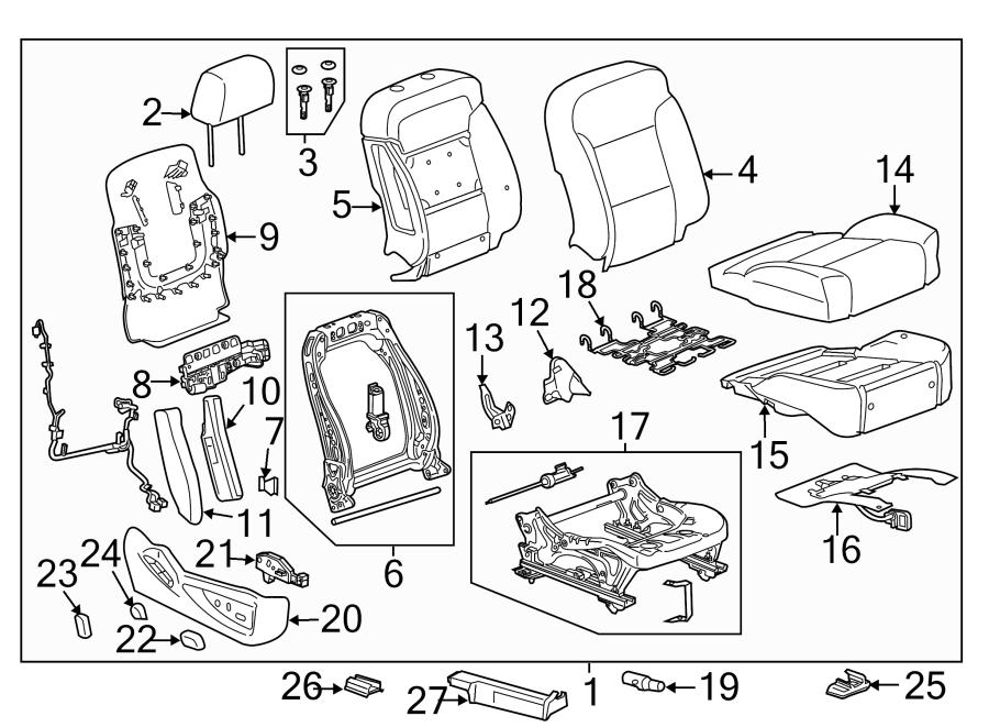 2015 GMC Canyon Sensor. Seat. Position. Track. Air Bag Mat