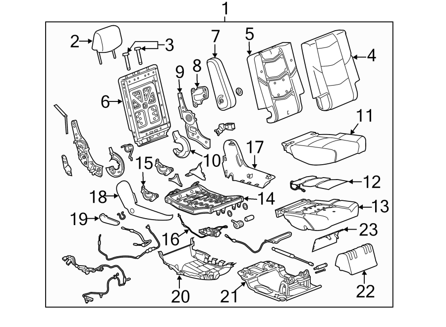 2015 Chevrolet Suburban Seat Back Recliner Adjustment