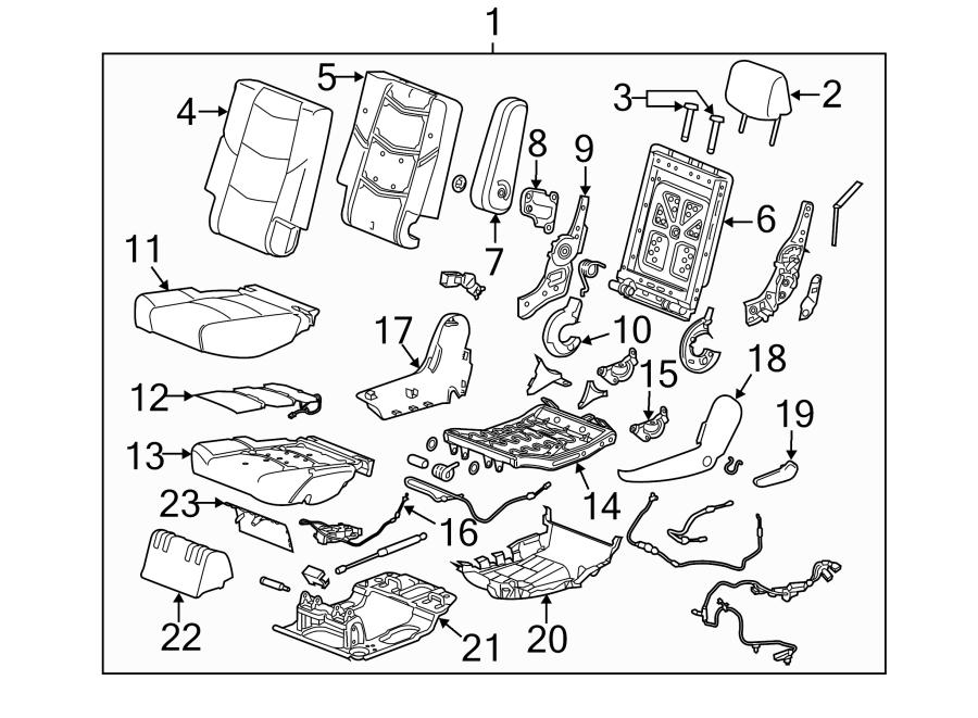 2019 Chevrolet Tahoe Seat Back Recliner Adjustment